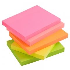 齐心(Comix)5本配色装荧光纸易事贴/便利贴/便签纸/便签本(76x76mm)100张/本 办公文具 D7002EC