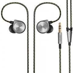 漫步者(EDIFIER) H297 旗舰入耳式有线耳机 音乐耳机 手机耳机  深铁灰