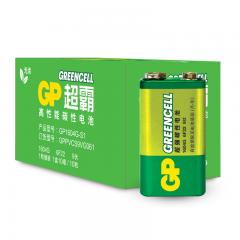 超霸(GP)1604G-S1碳性电池9V九伏10节装玩具/遥控器/无线麦克风/电子仪表6F22