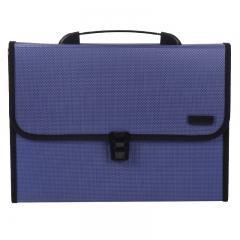 晨光(M&G)A4/12格蓝色办公手提风琴包资料包文件包 单个装AWT90959