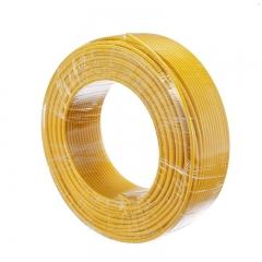 金山(JINSHAN)国标单芯塑铜线 硬线 电线 电缆 BV4平方 黄100M/盘