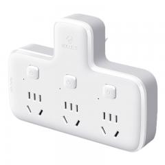 公牛(BULL)转换插头/品字形一转三插座/无线转换插座/电源转换器 3位分控插座 GN-96033