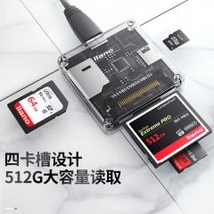 绿巨能(llano)读卡器 兼容USB3.0/2.0 多功能 读卡器 四合一读卡器 支持SD/TF/Micro SD/CF存储卡等 CC1014