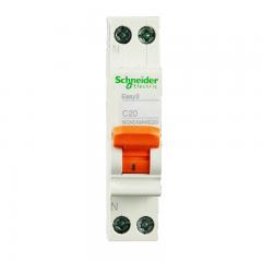 施耐德电气(Schneider Electric)家用微型断路器 空气开关 双进双出1P+N C20A DPN EA9系列MGNEA9A45C20R