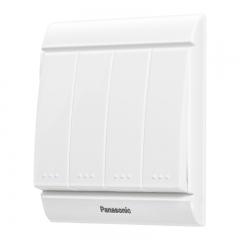 松下( Panasonic)开关插座面板 四开单控开关面板 4开单控墙壁开关 佳典纯系列86型 WMS507 白色