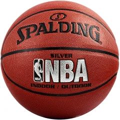 斯伯丁SPALDING NBA比赛PU材质篮球室内外成人儿童 蓝球  74-608Y