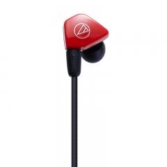 铁三角 LS50iS 双动圈手机线控入耳式耳机 红色 低频强劲 手机耳麦