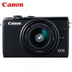 佳能(Canon)EOS M100 微单相机  数码相机 微单套机 黑色(15-45 微单镜头)Vlog相机 视频拍摄