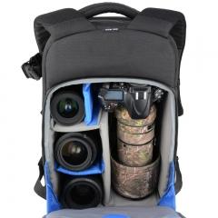 百诺(Benro)徒步者 300 专业双肩摄影包大容量背包单反微单全隔断150-600长焦镜头