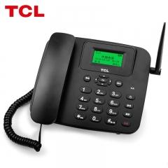 TCL 插卡电话机座机 升级电信4G版移动固话 办公家用 中文菜单/大音量 支持电信4G网络手机卡 LT100.AL(黑)
