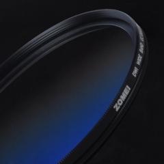 卓美 ZOMEI 渐变蓝uv镜49mm 超薄圆形渐变镜 特效滤镜