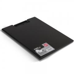 得力(deli)时尚全新工艺高档加厚PP材质折页板夹 A4单只装 黑色