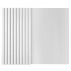 西玛(SIMAA)10只加厚A4透明抽杆夹 粗1cm  拉杆文件夹简历报告夹 办公用品8443 白色