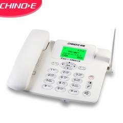 中诺(CHINO-E)插卡电话机 移动固话   WCDMA联通3G网 兼容2G3G4G手机SIM卡 办公座机 C265C联通3G版白色