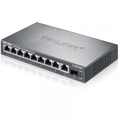TP-LINK SG1210P 8口千兆POE交换机 1千兆口+1千兆光纤口