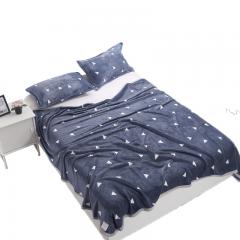 南极人 毛毯家纺 云貂绒毯子 空调毯 毛巾被 办公室午睡四季盖毯 简爱 100*140cm