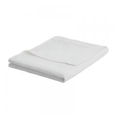 大朴(DAPU)毯子家纺 A类棉麻褶皱毛巾被 棉麻毛毯盖毯 薄被 本白 双人 140*200cm