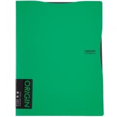 齐心(Comix) 原味单强力夹 A4文件夹 资料夹 绿色  A824