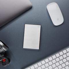 希捷(Seagate)2TB USB3.0 移动硬盘 Backup Plus 铭 2.5英寸 时尚金属外壳 兼容mac 皓月银 箱装(4个/箱)