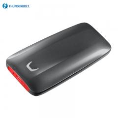 三星(SAMSUNG) 2TB Thunderbolt™ 3 雷电3接口 移动硬盘 固态(PSSD)X5 动态散热 安全可靠