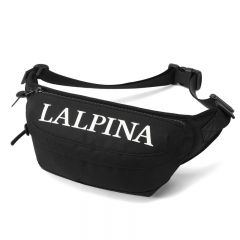 阿尔皮纳袋鼠(L'ALPINA)男士潮牌胸包男斜挎包运动休闲骑行挎包单肩包户外帆布腰包男 692152001S黑色