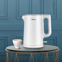 美的(Midea)电水壶热水壶电热水壶静音水壶双层防烫烧水壶SH15Silence401