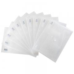 得力(deli)10只A4加厚镜面文件袋 透明按扣档案袋资料袋 5502
