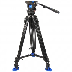 百诺(Benro)BV6 专业摄像脚架套装动平衡阻尼可调 双管三脚架液压云台
