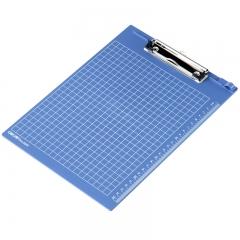 得力(deli)A4带刻度金属强力夹书写板夹文件夹 深蓝9240