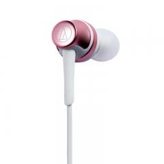 铁三角 CKR50IS 线控带麦入耳式HIFI耳机 粉色 重低音 手机通话