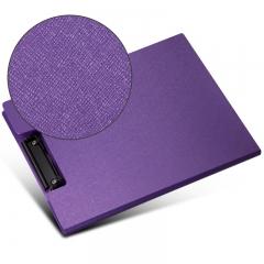 齐心(Comix) A723 美石系双折式书写板夹A4 珠紫