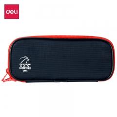 得力(deli)多功能大容量笔袋多层铅笔收纳袋 红色66667
