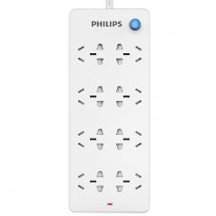 飞利浦(PHILIPS)新国标安全插座 8孔位总控 3米 儿童保护门 插线板/插排/排插/拖线板/接线板1830P