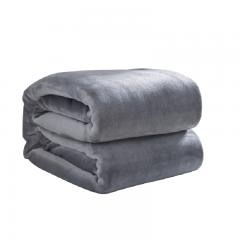 北极绒 毛毯家纺 云貂绒毯子 空调毯 毛巾被 办公室午睡四季盖毯 灰色 100*140cm