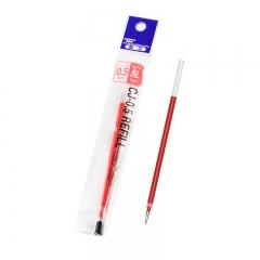 日本斑马牌(ZEBRA)C-RJAH5 中性笔芯 啫喱笔芯 水笔芯(适用JJ1 JJ4) 0.5mm红色(10支装)