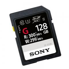 索尼(SONY)128G存储卡 SF-G128 SDXC UHS-II内存卡/SD卡 300MB/S读取速度