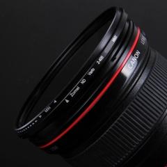 卓美 ZOMEI ND2-400可调减光镜58mm 索尼富士微单镜头中灰密度镜佳能尼康单反相机滤镜