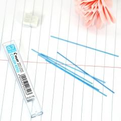 日本百乐(PILOT)彩色活动铅笔芯/自动铅芯 0.7mm淡蓝 6根装 PLCR-7-SL原装进口
