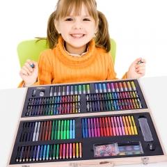 铭塔儿童绘画文具 218件套装画画板工具笔蜡笔水彩笔颜料美术铅笔 学生学习用品