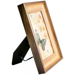 花间集 相框 6寸PS树脂相框 北欧风相框 黑胡桃色 植绒背板 横竖摆挂四用