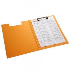 齐心(Comix) A5305 央格系列文件夹/资料夹A4 双折式板夹 橙色