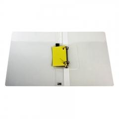 得力(deli)A4两孔D型透明文件夹 活页打孔文件夹资料夹子 文件收纳办公用品5381