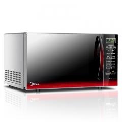 美的(Midea)EM7KCGW3-NR 快捷微波炉 微电脑操控 平板加热 智能蒸煮菜单 20升