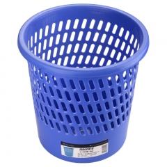 探戈垃圾桶塑料实色办公纸篓/垃圾篓办公厨房卫生间客厅/255mm直径蓝色/探戈系列