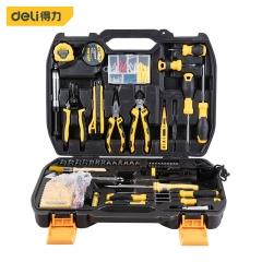 得力(deli) 多功能五金工具箱手动工具套装电工维修工具箱124件 DL5969