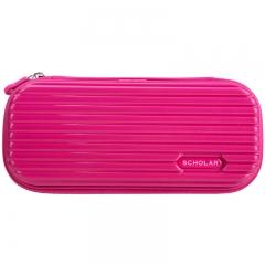 得力(deli)大容量学生笔袋/多功能文具盒/铅笔收纳盒 玫红66743
