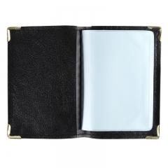齐心(COMIX)NU36 便携式软皮名片册 可容纳36枚