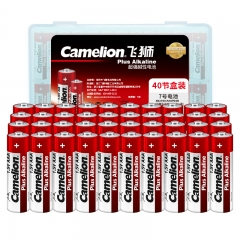 飞狮(Camelion)碱性电池 干电池 LR03/AAA/7号 电池 40节 鼠标/键盘/血压计/血糖仪/遥控器