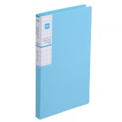 齐心(Comix) 120枚(60袋)  便携式名片册/卡册/名片夹 一段三格 银蓝 A1621抗菌系列