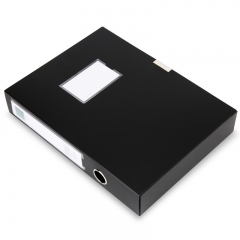 得力(deli)12只加厚粘扣档案盒 55mm/A4资料盒 黑5603